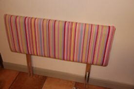 Single Bed Headboard - candy stripe material