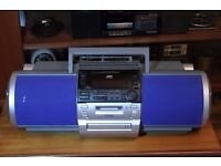 Very Rare JVC RD-MD5 Boombox Powered Woofer Stereo CD Mini Disc MD AUX