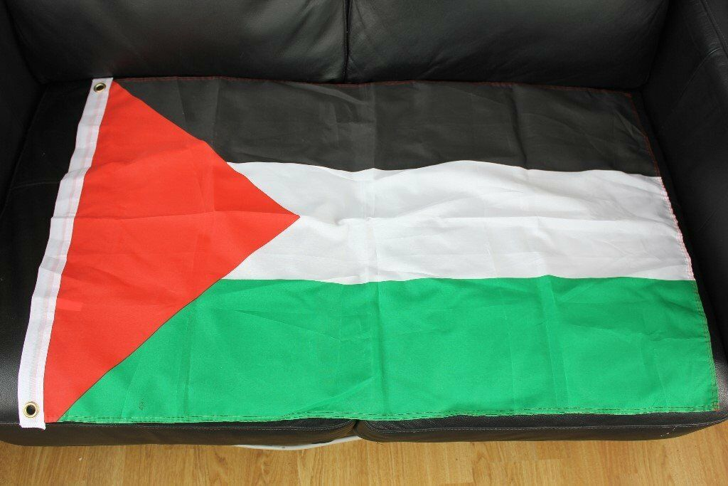 PALESTINIAN NATIONAL FLAG Brand New Cloth Flag c/w Eyelets 60 cm x 93 cm