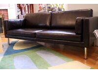 Ikea Rauken Leather Sofa