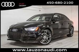 2016 Audi S3 PROGRESSIV ADVANCE HANDLING, NAV, BLACK OPTICS