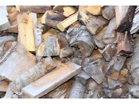 Firewood Logs All 100% CHERRY WOOD 1X BUILDERS BAG IDEAL FOR FOOD SMOKER