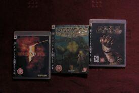 ps3 playstation games bundles: bioshock, dead space, resident evil 5