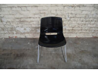 BLACK PLASTIC SCHOOL STYLE CHAIRS STACKABLE