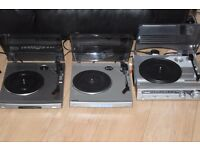 SONY/BUSH 2 RECORD PLAYERS ONE WITH SPEAKERS BUILT IN 30 POUND EACH