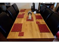 Solid Oak Dining Table seating up to 8 people