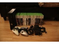 Xbox 360 Slim 250GB, 3 Controllers, 31 Games. £110