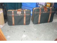Set of antler suitcases.