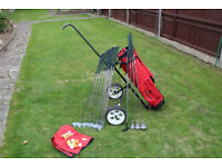 Golf Clubs, bag, trolley and stand in excellent condition - as good as new!