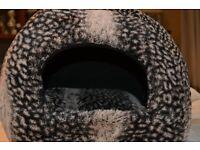 RSPCA luxury plush igloo cat bed