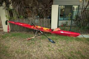 Spirit Racing Ski + Paddle (x2) + Trailer + Leash + Roof Cradle Mount Lawley Stirling Area Preview