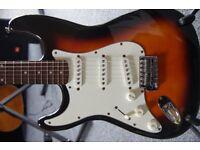 Left Handed Fender Korean Squire Stratocaster Sunburst