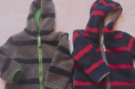 Boden coats grey/ blue and red/blue 2-3 yrs