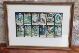 Unusual Vintage Framed Picture The House That Jack Built Childs Nursery Decoupage Cat Dog Art Child
