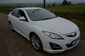2011 Mazda 6 2.2 Diesel, WHITE, SPORT, LEATHER, HEATED SEATS, PRIVACY WINDOWS, HPI CLEAR