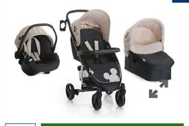 Hauck miami 4s trio set /pushchair/pram/travel system