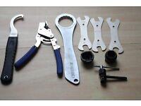 Selection of bike tools
