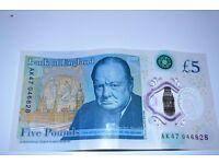 £5 note AK47 046828