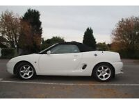 1996 MGF 1.8i Rare White Diamond in Excelent Condition. 57,750 miles. Long MOT. Leather interior.