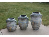 3x garden flower pot decorative vase