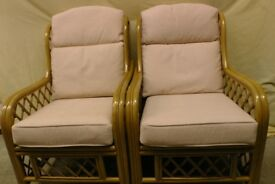 Two conservatory chairs in excellent condition.