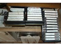 SELF IMPROVEMENT AUDIO TAPES AND TWO STORAGE BOXES.