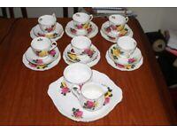 "Royal Albert ""June Delight""; 21 piece tea set"