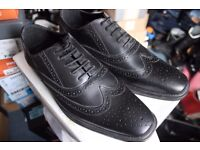 ShoePrimo Men's Black/Brown Leather Brogue Shoes (UK 7/8/9/10/12)