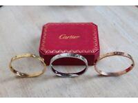 Cartier love bangle's