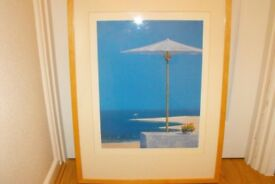 Print beach scene Frame 72cm tall x 53cm wide