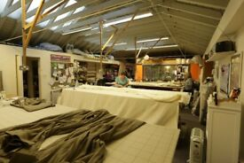 Experienced curtain-maker for busy soft-furnishings workshop