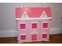Dolls House with Furniture & Dolls