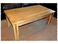 Large solid hardwood coffee table - mango / sheesham ? - very good condition - £40ono