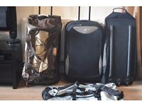 4 TRAVEL BAGS 3 WITH WHEELS
