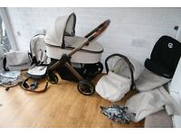 Babystyle Oyster 2 Special Edition City Bronze pram complete travel system 3 in 1 can post
