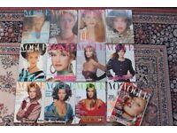 13 Old Vogue Magazines