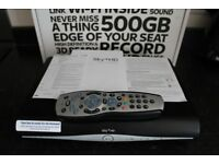 Sky+ HD box with Wifi & Remote (no viewing card)