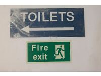 Fire Exit & Toilet Plastic Shop Office Retail Industrial Signs