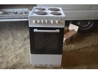 white flavel electric cooker 50 cm £40 CB1 collect