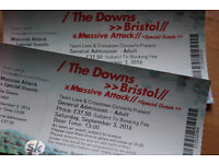 2 x Massive attack tickets for the Bristol Downs homecoming show