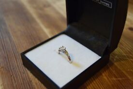 1/4 Ct Diamond Engagement Ring with 9ct white gold.