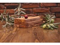 Engarved olive wood cutting board /handmade wooden chooping board cheese boards Set of 3