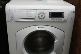 HOTPOINT 7KG WASHER DRYER ALL IN ONE IN GOOD CLEAN WORKING ORDER 3 MONTH WARRANTY & PAT TESTED