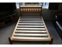 Pine bed for sale. 4 feet wide