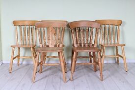 6 X FARMHOUSE CHAIRS DIFFERENT STYLES - FREE LOCAL DELIVERY - UK WIDE DELIVERY AVAILABLE