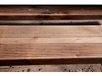 Decking, 24 x 12 feet long deck boards and 16 bearers, top quality, unused