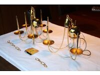Chandeliers - Gold Effect finish - 3 lights