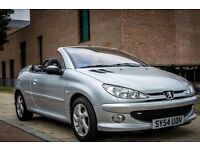 Peugeot 206 CC - Convertible - Silver - Manual - Great Condition - Leather - Cheap - Low Tax & Ins