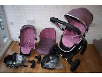 iCandy Peach 3 Marshmallow (pink) single / double pram *can post*