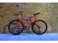 Christmas sale!!! Steel Frame Single speed road bike track bike fixed gear racing fixie bicycle w